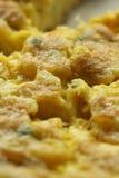 Scramble eggs. Close view with a macro lens, enjoy Royalty Free Stock Photos