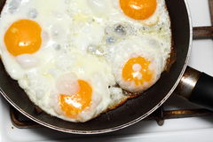 Scramble eggs Stock Photo