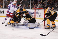 Scramble for the puck. Stock Images