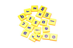 Scrambled alphabets Stock Images