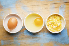 Scrambled egg abstract Royalty Free Stock Photo