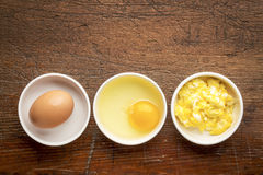 Scrambled egg abstract Stock Images