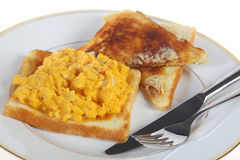 Scrambled egg breakfast Royalty Free Stock Photos