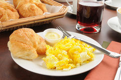 Scrambled egg breakfast Royalty Free Stock Images