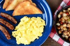 Scrambled Egg Breakfast Closeup Royalty Free Stock Photos