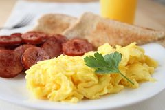 Scrambled egg breakfast Stock Photos