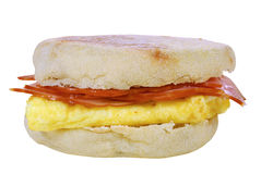 Scrambled egg and ham Royalty Free Stock Photography