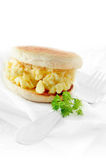 Scrambled Egg Muffin Stock Photo