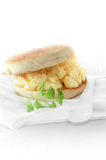 Scrambled Egg Muffin Royalty Free Stock Photo