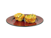 Scrambled egg muffin Stock Image