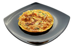 Scrambled egg omelet Royalty Free Stock Photo