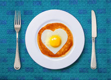 Scrambled egg on plate Royalty Free Stock Photography