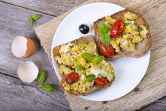 Scrambled egg Royalty Free Stock Photo