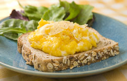 Scrambled egg sandwich Royalty Free Stock Photos
