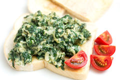 Scrambled egg with spinach Royalty Free Stock Image