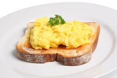 Scrambled Egg on Toast Royalty Free Stock Photos