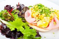 Scrambled egg toast Stock Photo