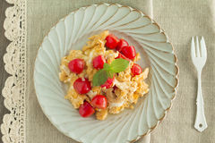 Scrambled egg with tomatoes Royalty Free Stock Photos