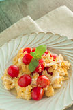 Scrambled egg with tomatoes Royalty Free Stock Photo