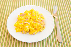 Scrambled eggs royalty free stock image