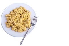 Scrambled eggs Stock Images