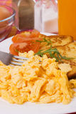 Scrambled eggs Stock Photography
