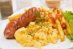 Scrambled eggs Stock Image