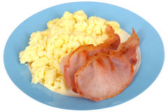Scrambled Eggs with Bacon Stock Photography