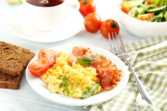Scrambled eggs Royalty Free Stock Image
