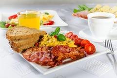 scrambled eggs and bacon Royalty Free Stock Photos