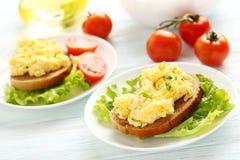 Scrambled eggs stock photo