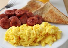 Scrambled eggs for breakfast Royalty Free Stock Photos