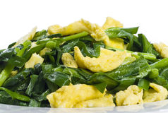 Scrambled Eggs and Chives stock photos