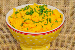 Scrambled eggs with chives Royalty Free Stock Photography