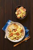Scrambled Eggs with Chorizo Royalty Free Stock Images