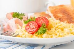 Scrambled Eggs Closeup stock image