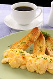 Scrambled Eggs And Coffee Royalty Free Stock Image
