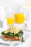 Scrambled Eggs Florentine Stock Photos