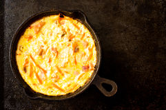 Scrambled eggs with ham and carrot Royalty Free Stock Photography