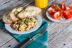 Scrambled eggs. Royalty Free Stock Image