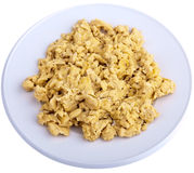 Scrambled Eggs, isolated Stock Photo