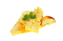 Scrambled Eggs On A Piece Of Toast Stock Photography