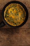 Scrambled eggs in a pan Royalty Free Stock Image
