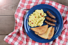 Scrambled Eggs With Peppers Retro Royalty Free Stock Images