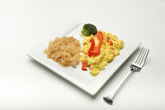 Scrambled eggs and rice. Royalty Free Stock Photos