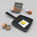 Square eggs Royalty Free Stock Images