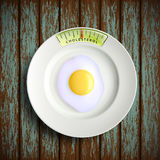 Scrambled eggs. Stock illustration. Royalty Free Stock Photos