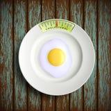 Scrambled eggs. Stock illustration. Royalty Free Stock Photos