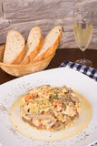 Scrambled eggs tapa Royalty Free Stock Images