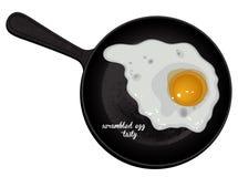 Scrambled eggs tasty Stock Photography